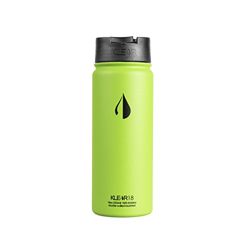 Klear Bottle - 18 Oz Stainless Steel Water Bottle - Double Wall Vacuum Sealed Insulated (Lime Green)