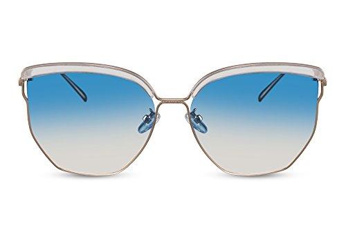 Espejadas Lentes UV400 Cheapass Azul1 de Gafas Sol Metálicas qAaaIwzx
