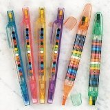Fun Express Transparent Glitter Stacking Point Crayons (Pack of 12)