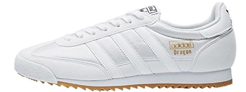 adidas Originals Herren Dragon Fashion Sneaker Weiß / Weiß / Gummi