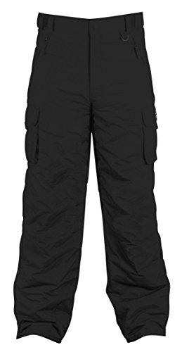 Xxl Snow (WhiteStorm Elite Men's Mountain Cargo Snowboard Pants (XXL, Black))
