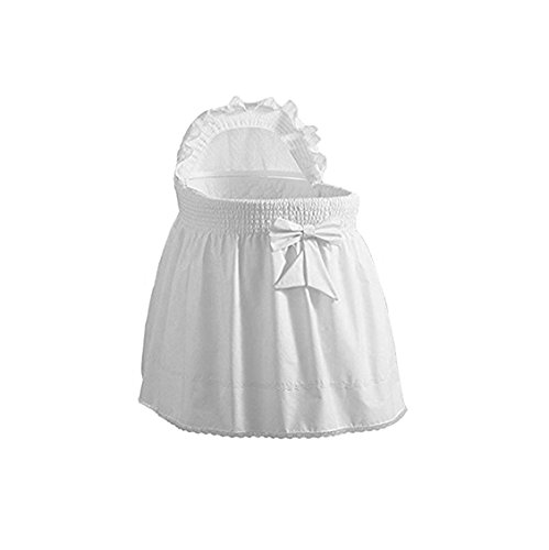 BabyDoll Embossed Damask Creation Liner/Skirt & Hood, White, 16'' x 32''