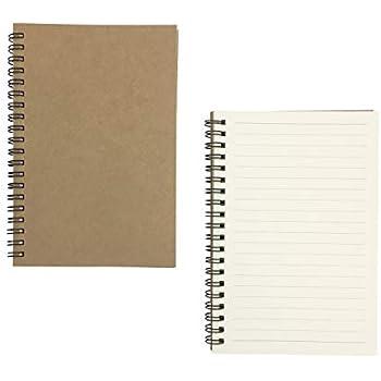 amazon com floranea 2 pcs kraft cover lined notebook paper college