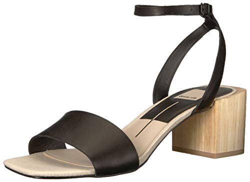 Dolce Vita Women's Zarita Heeled Sandal, Black Leather, 13 M US Dolce Vita Leather Pumps