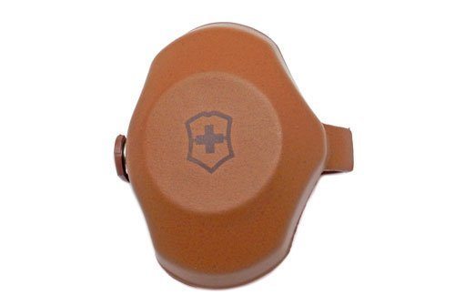 Genuine Swiss Army Brown Leather Cover Dome
