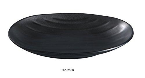 Yanco BP-2108 Black pearl-1 Oval Deep Plate, 8.5