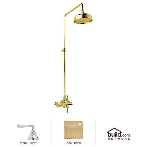 - Rohl AKIT49172LHIB Country Bath Shower System with Exposed Thermostatic Valve, Inca Brass