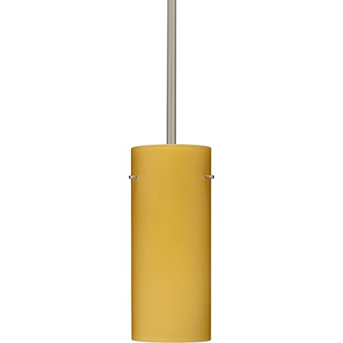 4123vm Led (Besa Lighting 1TT-4123VM-LED-SN 1X6W GU24 Stilo 10 LED Pendant with Vanilla Matte Glass, Satin Nickel Finish)