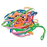 Conserve(R) PlastiBands(R), 4 1/4'', 100 Pack, Assorted Colors (Bundle of 5)