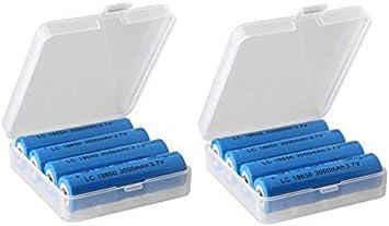 DealMux 18650 Caja de Almacenamiento de batería Organizador ...