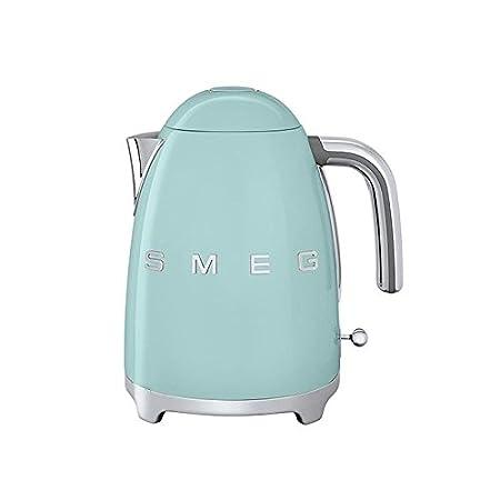 SMEG KLF01 - Hervidor de agua 1,7L verde claro/lacado/resistencias integradas/Soft-Opening