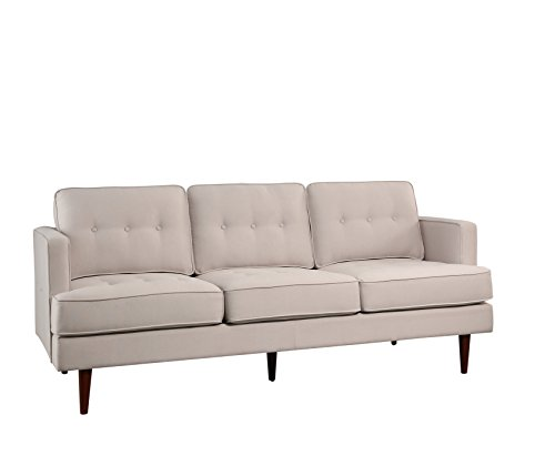 Abbyson® Clinton Mid Century Tufted Sofa, Ivory for sale  Delivered anywhere in USA
