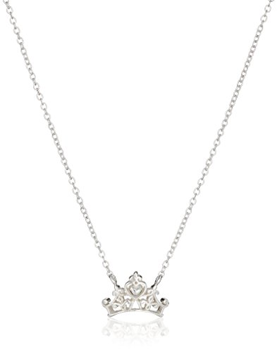 Disney Sterling Silver Princess Crown Pendant Necklace, 16