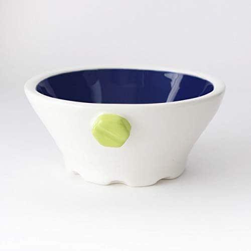 Cuenco de Cerámica hecho a mano, Más colores disponibles, Diseño mecánico, Hecho en Italia – 180 ml (Verde, Azul)