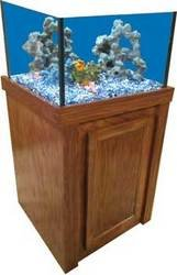 R&J Enterprises ARJ00589 Oak Wood Aquarium Cabinet Stand for Deep Blue Cube Tank, 24 by 24-Inch, Cherry by R&J Enterprises