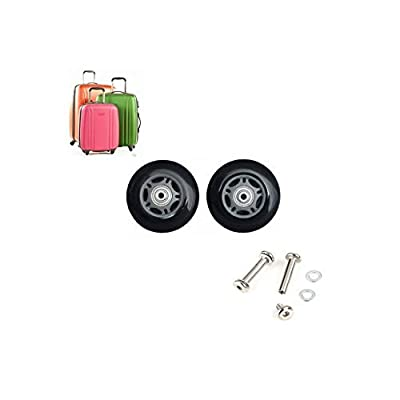 ABBOTT OD. 76 mm Wide 24 mm Axle 40 mm Luggage Suitcase/Inline Outdoor Skate Replacement Wheels with ABEC 608zz Bearings : Sports & Outdoors