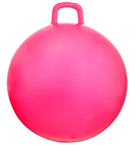 AppleRound Space Hopper Ball with Air Pump: 28in/70cm Diameter for Ages 13 and Up, Hop Ball, Kangaroo Bouncer, Hoppity Hop, Jumping Ball, Sit and Bounce