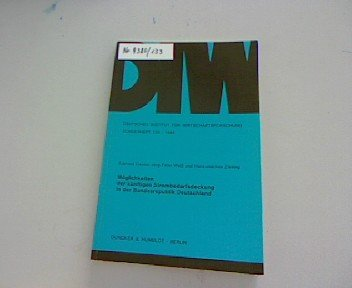 Möglichkeiten der künftigen Strombedarfsdeckung in der Bundesrepublik Deutschland (Sonderheft / Deutsches Institut für Wirtschaftsforschung) (German Edition)