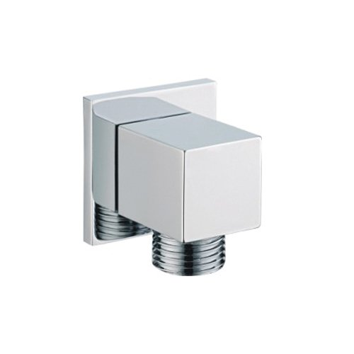 SUMERAIN Universal Cube Wall Supply Elbow For Handshower Brass Chrome S7478BC
