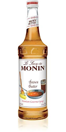 Monin - Brown Butter Syrup, Buttery Smooth Flavor with Rich Nutty Aroma, Great for Lattes, Milkshakes, and Iced Coffees, Gluten-Free, Vegan, Non-GMO (750 ml)