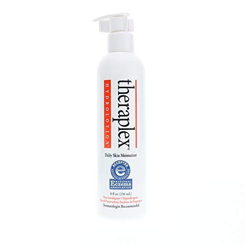 Theraplex Emollient - Theraplex Hydro Lotion, Facial and Body Daily Skin Moisturizer, 8 oz , For Cracked and Dry Skin, Non Greasy , Refreshes ,Hydrates and Protects, Paraben Free and Dermatologist Recommended