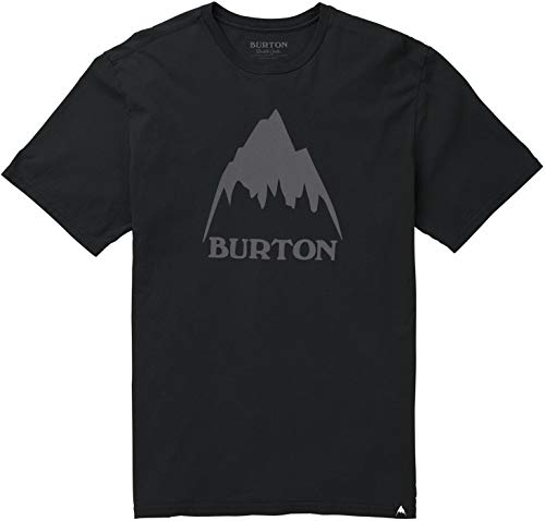 Burton Men's Classic MTN High Short Sleeve Tee, True Black SS19, Large (Snowboard All Fiber Mountain)
