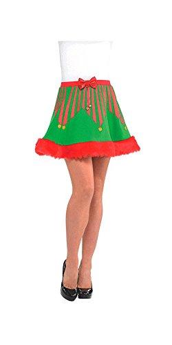 (Elf Skater Christmas Skirt -)