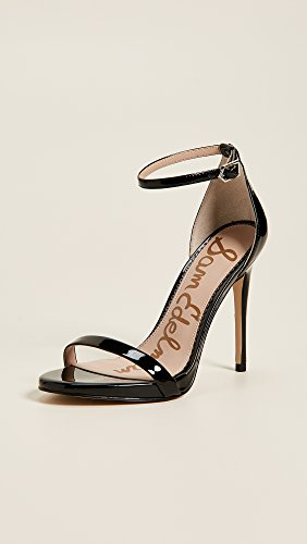 Sandals Sam Black Black Edelman Toe Women's 002 Patent Open Ariella wxTXqBa1