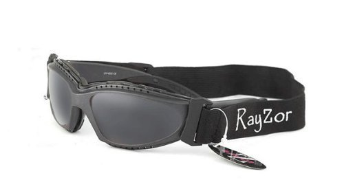 Rayzor Professional UV400 Gun Metal Grey 2 In 1 Ski / SnowBoard Sunglasses / Goggles