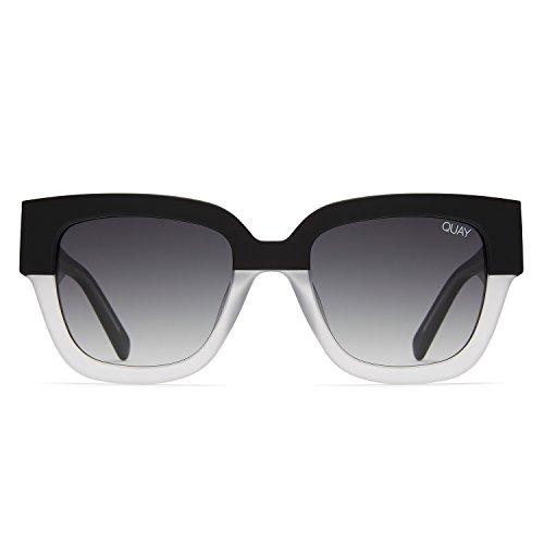 Quay Australia DON'T STOP Women's Sunglasses Square Sunnies - Sunglasses Quay White