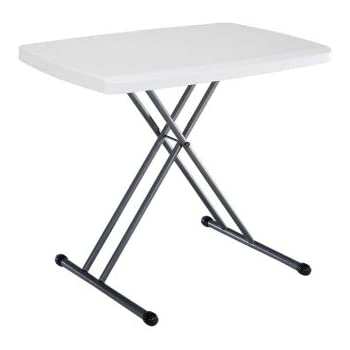 Charming Lifetime 28241 Folding Personal Table, 30 By 20 Inch, White