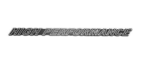 High Performance Engine Racing Emblem Badge in Chrome & Black - 7