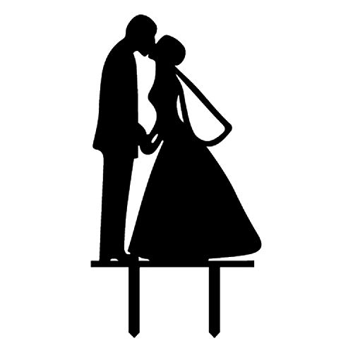 Kissing Bride Groom - Wedding Cake Topper bride and groom kissing for Wedding Party Decorations