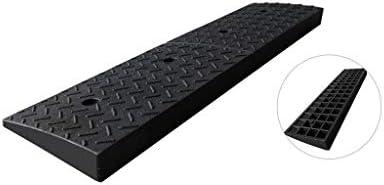 Alta calidad Aparcamiento Rampas, de goma Negro Skid Rampas familiares Servicio Garaje Rampas escalera exterior de Rampas en los pasos de ruedas Rampas 5-9CM práctico (Size : 98 * 24.5 * 8CM):