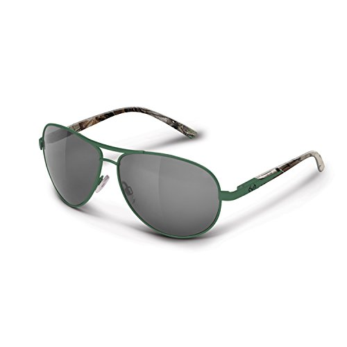 Realtree Hull Sunglasses ( Green/Xtra with Sliver Mirror Smoke Finish - Kyle Sunglasses Chris