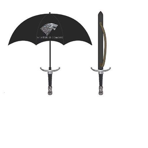 Game Of Thrones Winter Is Coming House Stark Molded Handle Sword Umbrella
