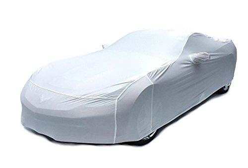 Southern Car Parts 2014-2017 C7 Corvette Stingray Indoor Satin Stretch Car Cover (Arctic White) - Arctic White Cover