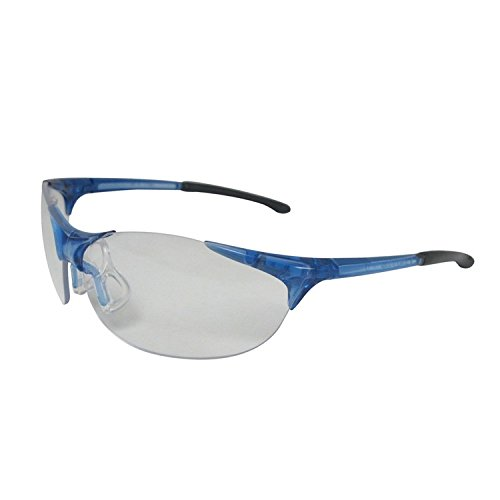 ERB 16810 Keystone Safety Glasses, Blue Frame with Clear Lens by ERB