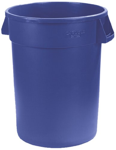 Carlisle 34103214 Bronco Round Waste Container Only, 32 Gallon, Blue by Carlisle (Image #1)