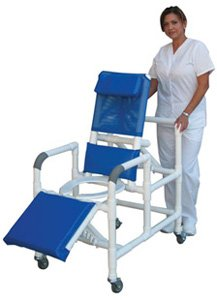 - MJM International E193-3TW Echo Reclining Shower Chair, 250 oz Capacity, 49.5