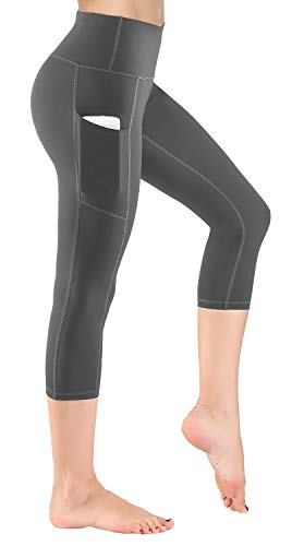 HOFI Women's High Waist Cropped Yoga Pants with Side Pockets & Inner Pocket ...