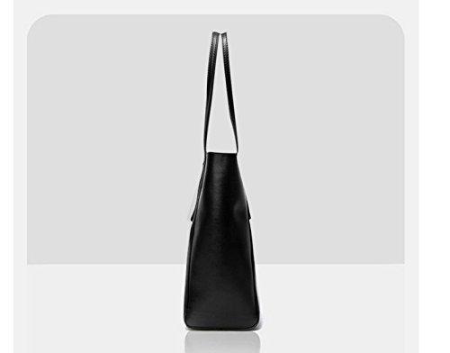 Sac Atmosphère Black Mesdames GWQGZ Unique Main Grande Sac Blanc Capacité À À Simple Mode Bandoulière Décontracté qpPwxEfB
