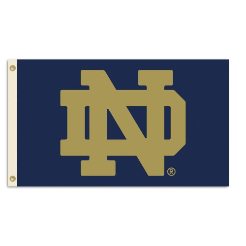 NCAA Notre Dame Fighting Irish 3-by-5 Foot Flag With Grommets - Ncaa Tailgate Flag