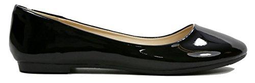 Zapatos Planos Max Collection May Para Mujer Ballet Todos Los Colores Charol-negro