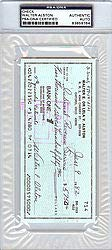 Walter Alston Signed Check Los Angeles Dodgers PSA/DNA Authentication Autographed MLB Baseball Memorabilia
