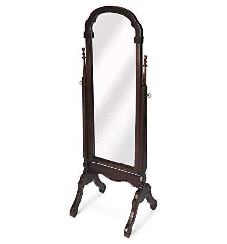 Bedroom Kensington Collection - Full Length Dressing Mirror - Cherry Finish - Cheval Mirror - Floor Mirror - Bedroom Mirror - Accent Furniture