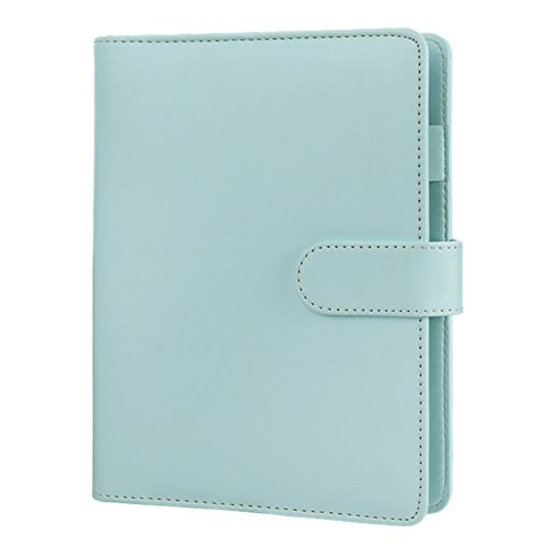 A5 Planner Binder,Personal Organizer,Spiral Binder Notebook,Harphia-with Magnetic Button-A5 9.06 x 7.28'',Mint