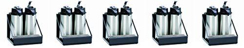 Wilbur Curtis 2 Position Airpot Rack - Compact Design with Integral Drip Tray - CAR-2-BLK (Each) (5-(Pack))