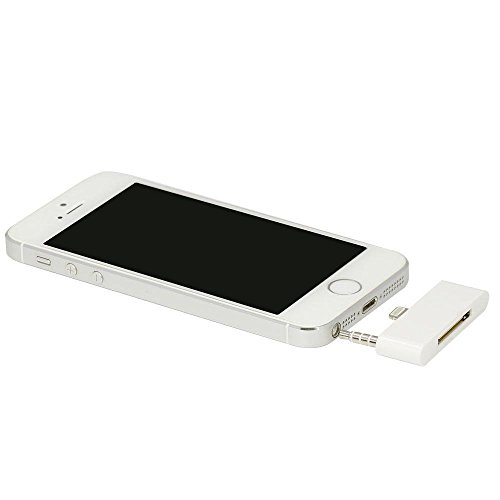 New [30 Day Warranty] 8 Pin Music 3.5mm Audio Adapter for Iphone 5 5s Ihome or Bose Speaker Dock Converter