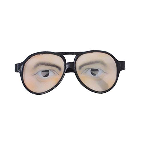 Party DIY Decorations - Nicexmas Halloween Trick Toy Male Female Funny Eyes Glasses Prank Disguise Eyeglass Party Props Toys - Party Decorations Party Decorations Disguise Glasses Female -
